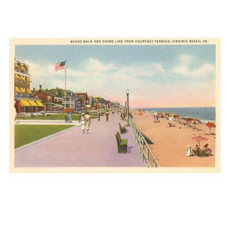 Boardwalk and Beach, Virginia Beach, Virginia Print Wall (Ar 15 For Sale In Virginia Beach)