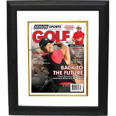 Athlon Ctbl Bwglf12 Tiger Woods Unsigned 2012 Sports Pga Golf Magazine Cover Custom Framed