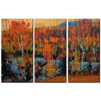 All My Walls 'Fall Coast' by Brian Simons 3 Piece Painting Prints Plaque Set