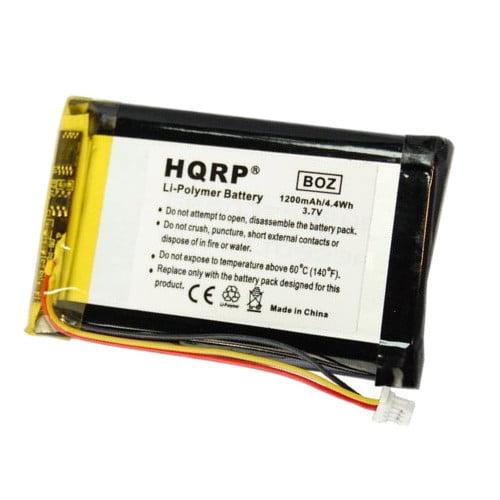 HQRP Battery for GARMIN Nuvi 465 465LTM 465T AD21AD23B0WOW GPS Navigator + HQRP Coaster