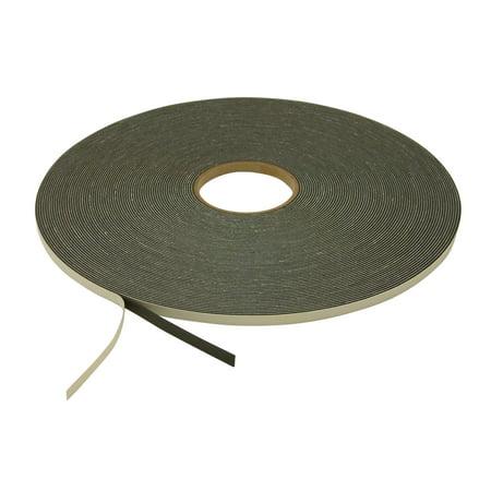 JVCC SCF-02 Single Coated PVC Foam Tape: 1/16 in. thick x 3/8 in. x 50 yds. (Black)