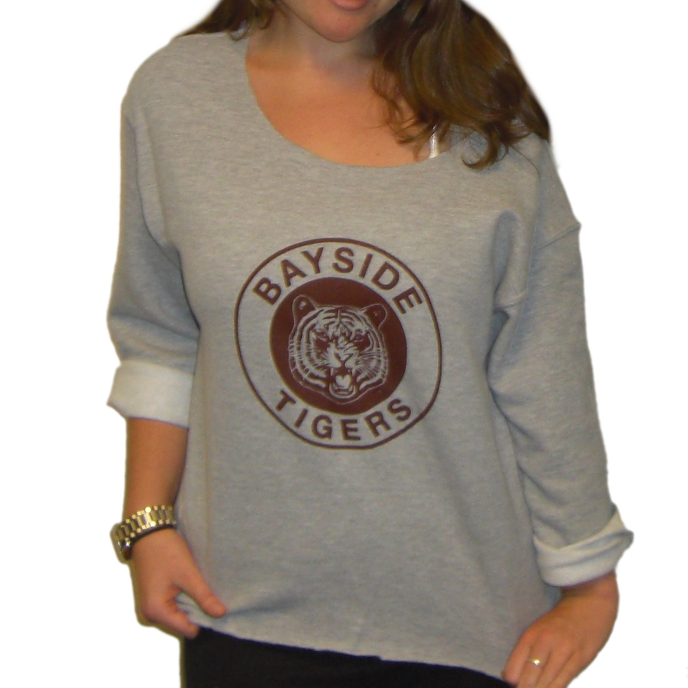 Kelly Kapowski Sweatshirt Bayside Tigers Adult Sweater Costume Saved ...
