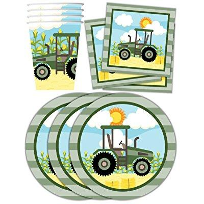 John Deere farm tractor time birthday party supplies set ...