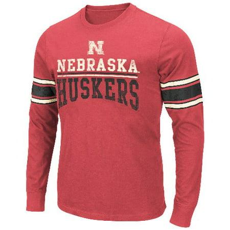 - Nebraska Cornhuskers NCAA Armony Soft Slub Premium Long Sleeve T-shirt