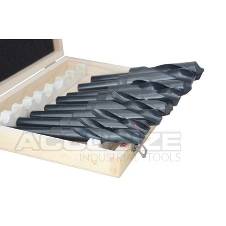 """Accusize - 8 Pcs/Set HSS 1/2'' Shank S&D Drill in Metal Box 9/16'' to 1"""", #H516-6502 - image 3 of 6"""