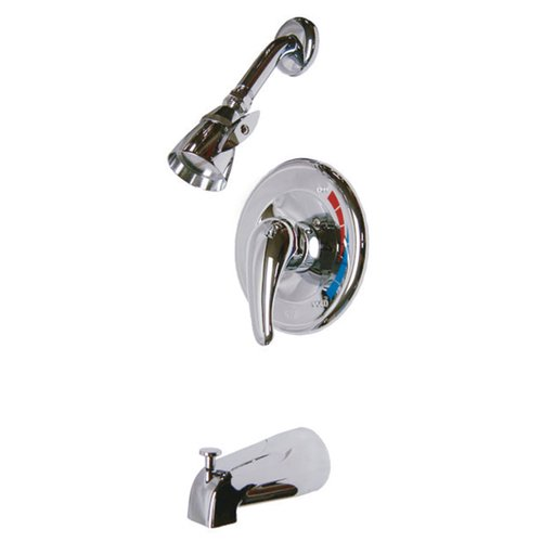 Kingston Brass Diverter Tub And Shower Faucet With Valve And Trim
