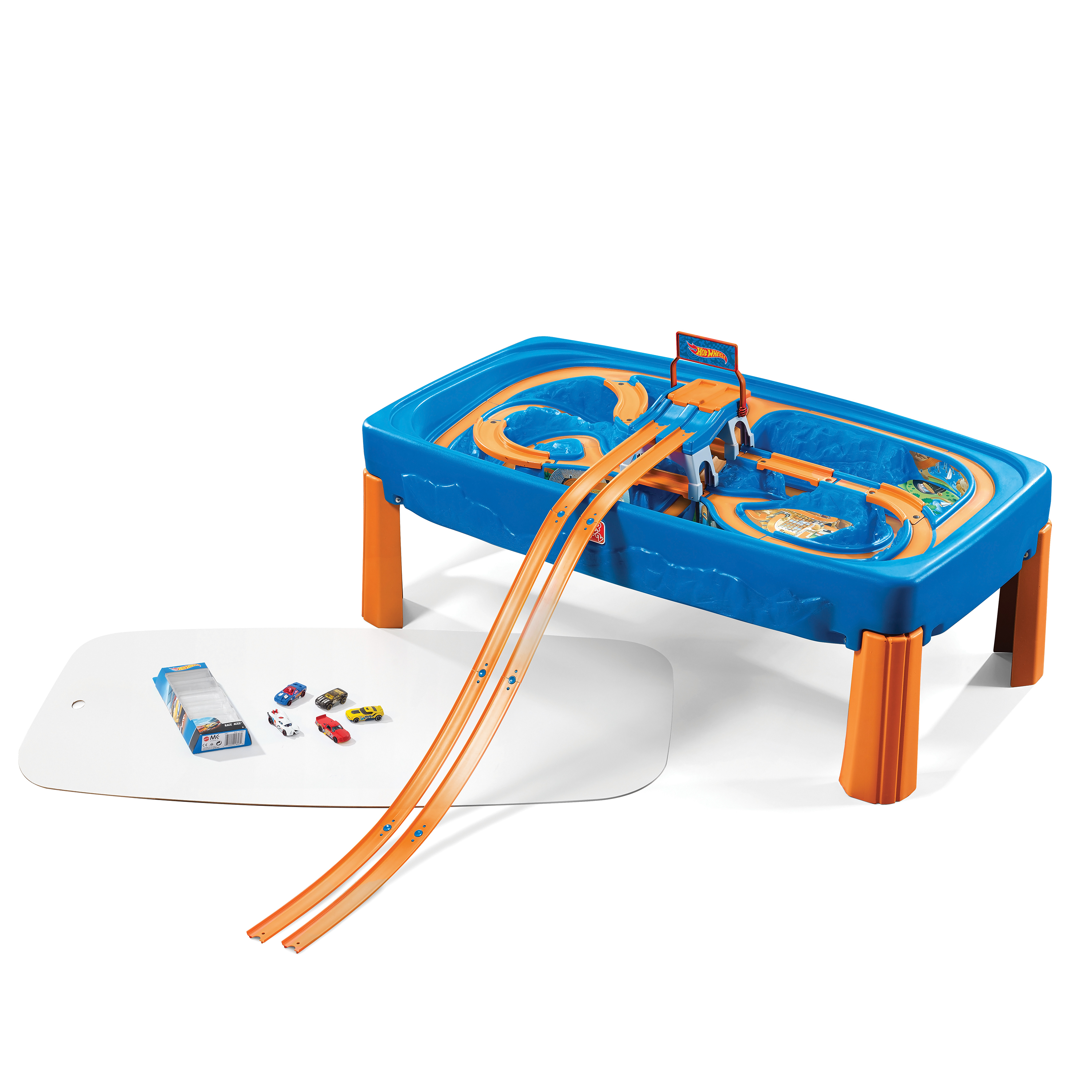 Step2 Children Kids Hot Wheels Car and Race Track Toy and Activity Play Table