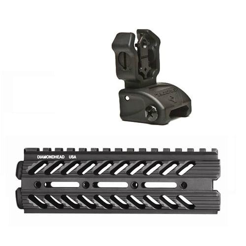 Diamondhead VRS-DI Handgaurd & Flip-Up NiteBrite Rear Sight Kit - Black - 6021