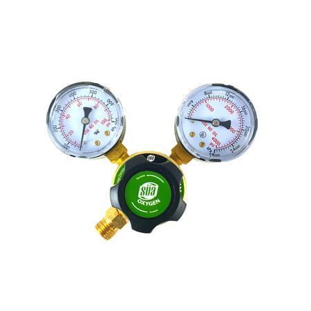 Oxygen 540 Regulators - SÜA - Oxygen Regulator Welding Gas Gauges - CGA-540 - Rear Connector - LDP series