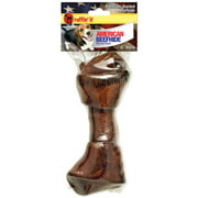 """American Beefhide 6-7"""" Beef Basted Flat Knot Bone"""