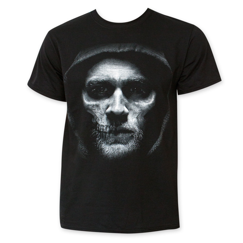 Sons Of Anarchy Men's Black Jax Reaper Face Tee Shirt