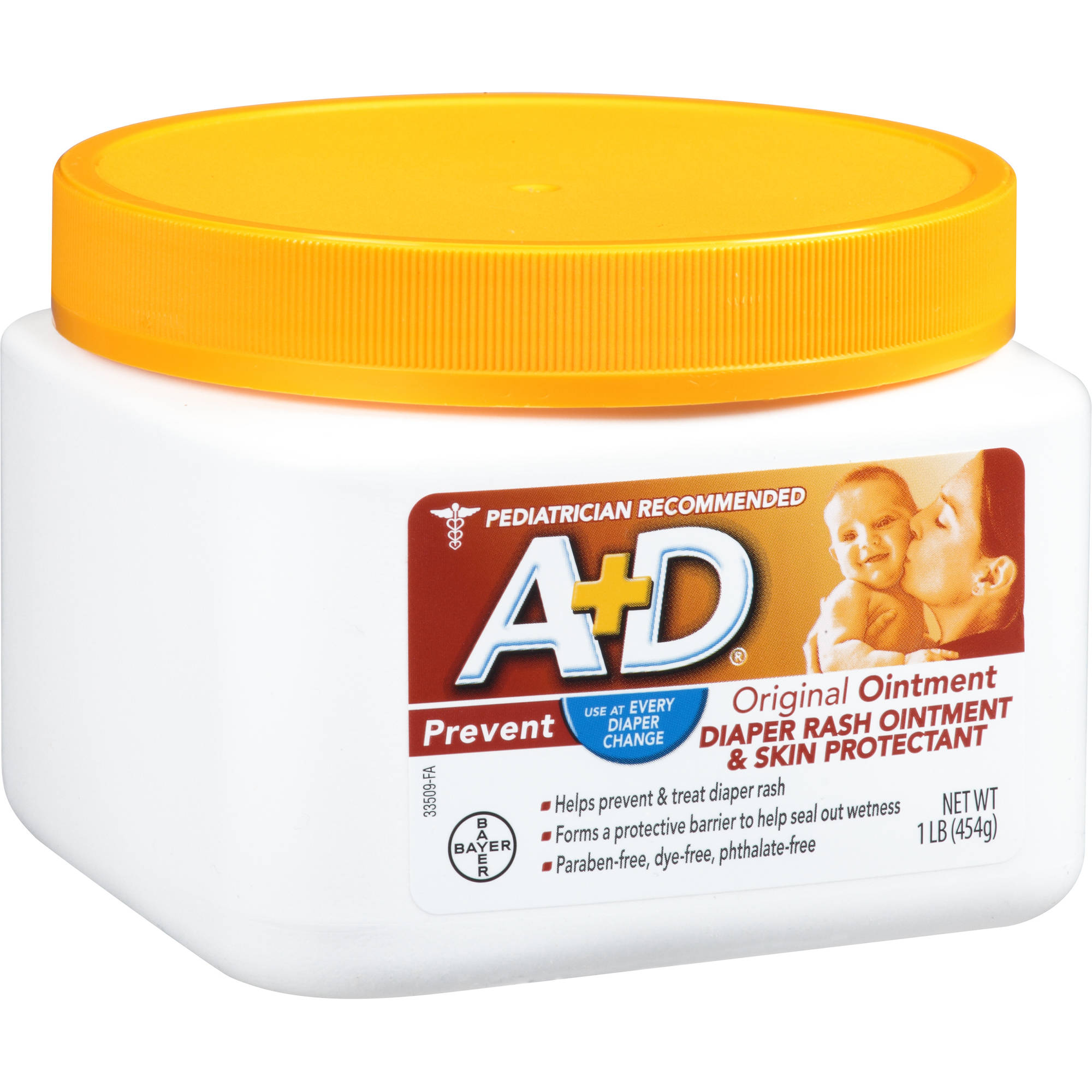 A+D Original Diaper Rash Ointment & Skin Protectant, 16 oz
