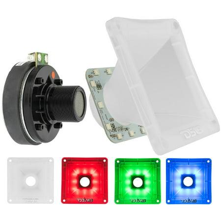 1x Pro Compression Super Driver 60W 8 Ohm RGB LED Horn DS18