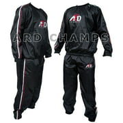 Heavy Duty Sweat Suit Sauna Exercise Gym Suit Fitness Weight Loss Anti-Rip Size Large