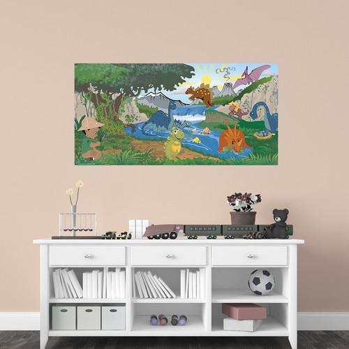 Mona Melisa Designs Dinosaur Boy Hanging Wall Mural