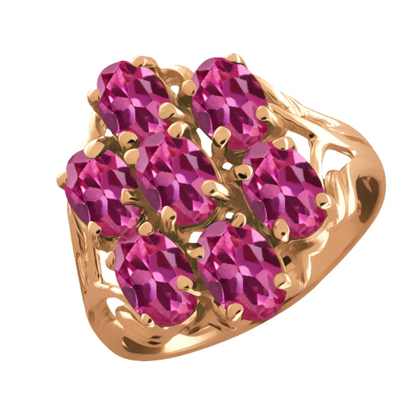 3.50 Ct Oval Pink Tourmaline 14k Rose Gold Ring by