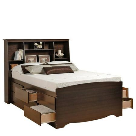 Prepac Manhattan Platform Storage Bed In Espresso Finish