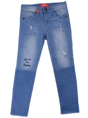 9H114(S) - Girls' Stretch 5 Pockets Ripped Premium Skinny jeans