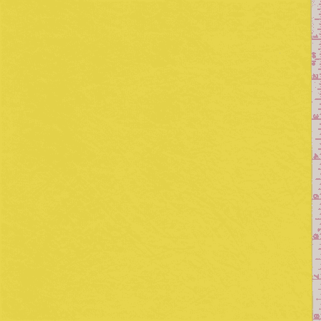 Canary Yellow Shimmer Jersey Knit, Fabric By the Yard
