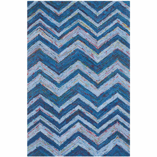 Safavieh Nantucket Joella Hand-Tufted Cotton Area Rug, Blue/Multi