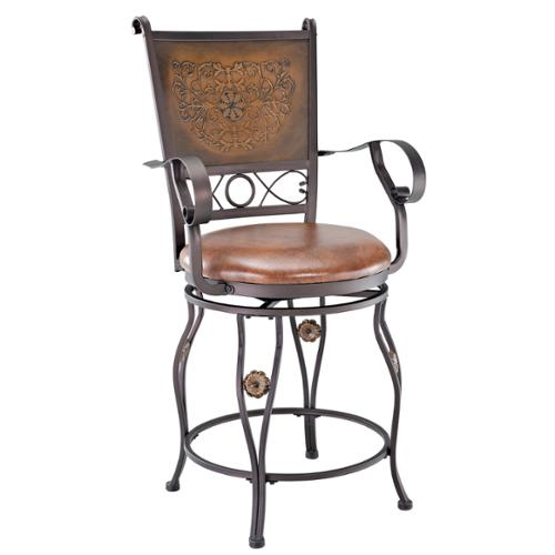 Powell Aberdeen Counter Stool with Arms by Overstock