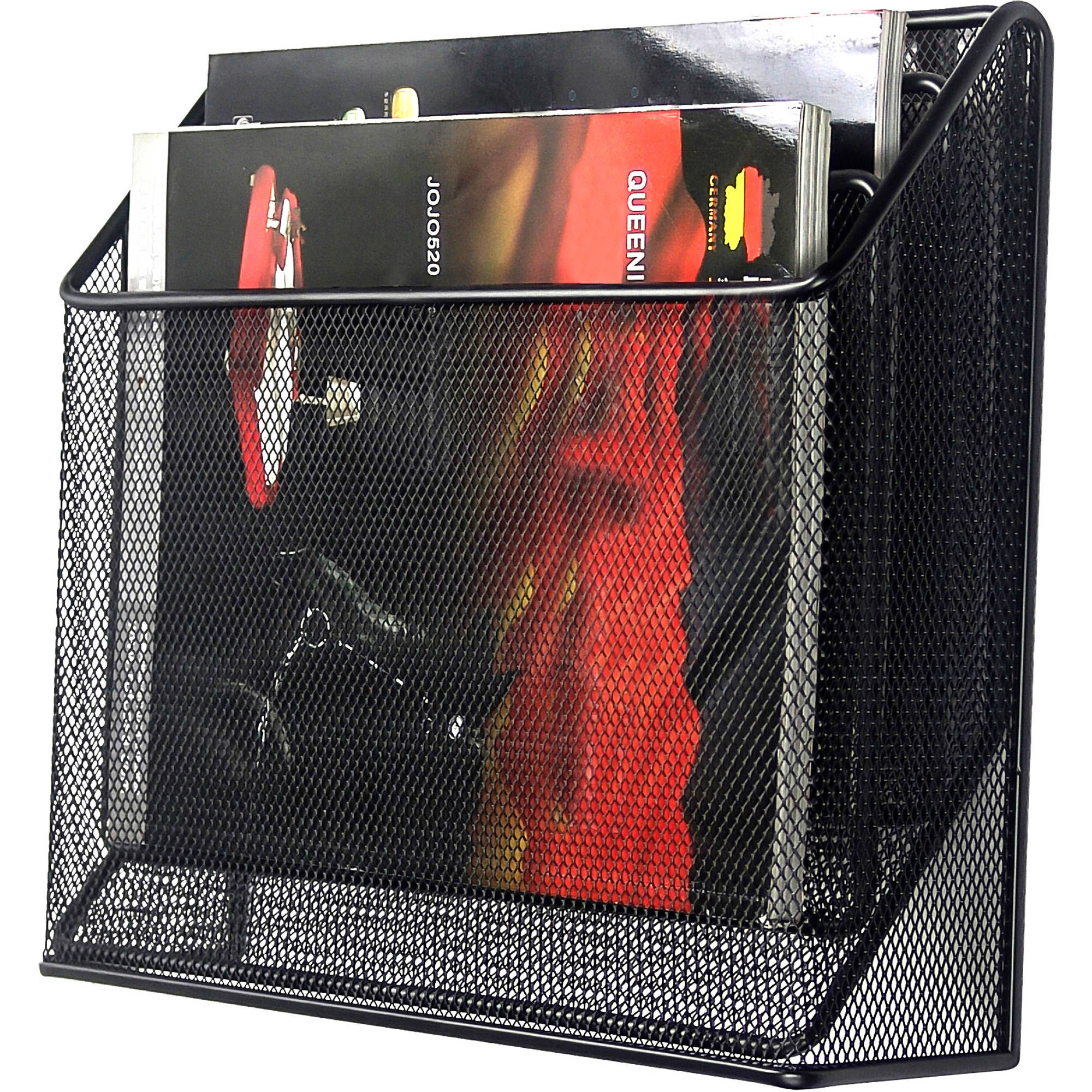 Mesh Desk Organizer with Hook, Black