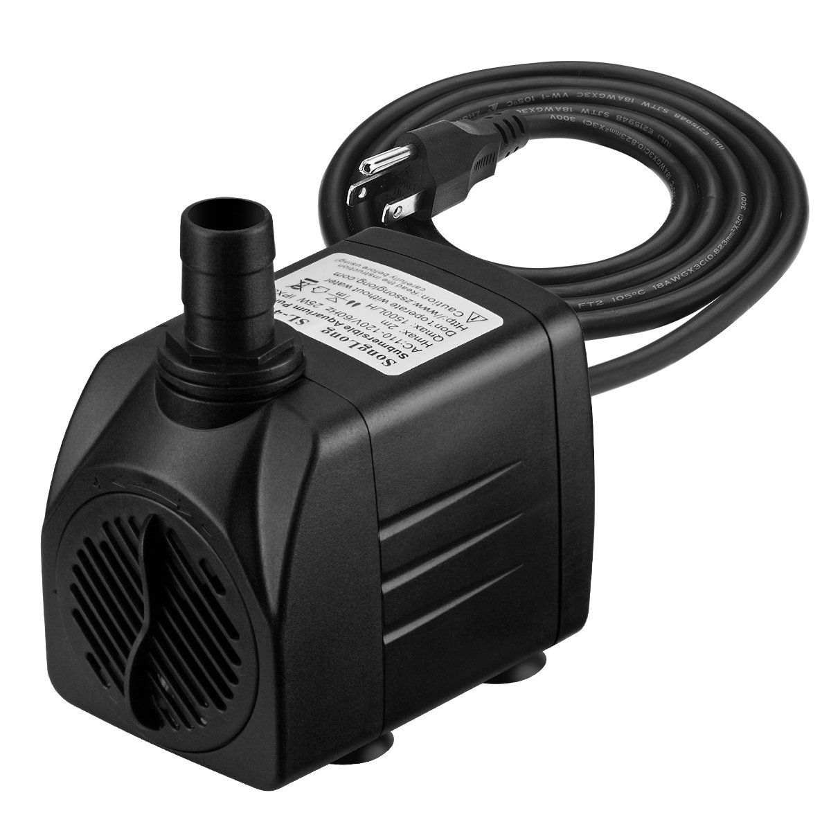 400 GPH Submersible Pump, Magicfly 25W Fountain Water Pump with 5.9ft Power Cord For Pond, Aquarium, Fish Tank