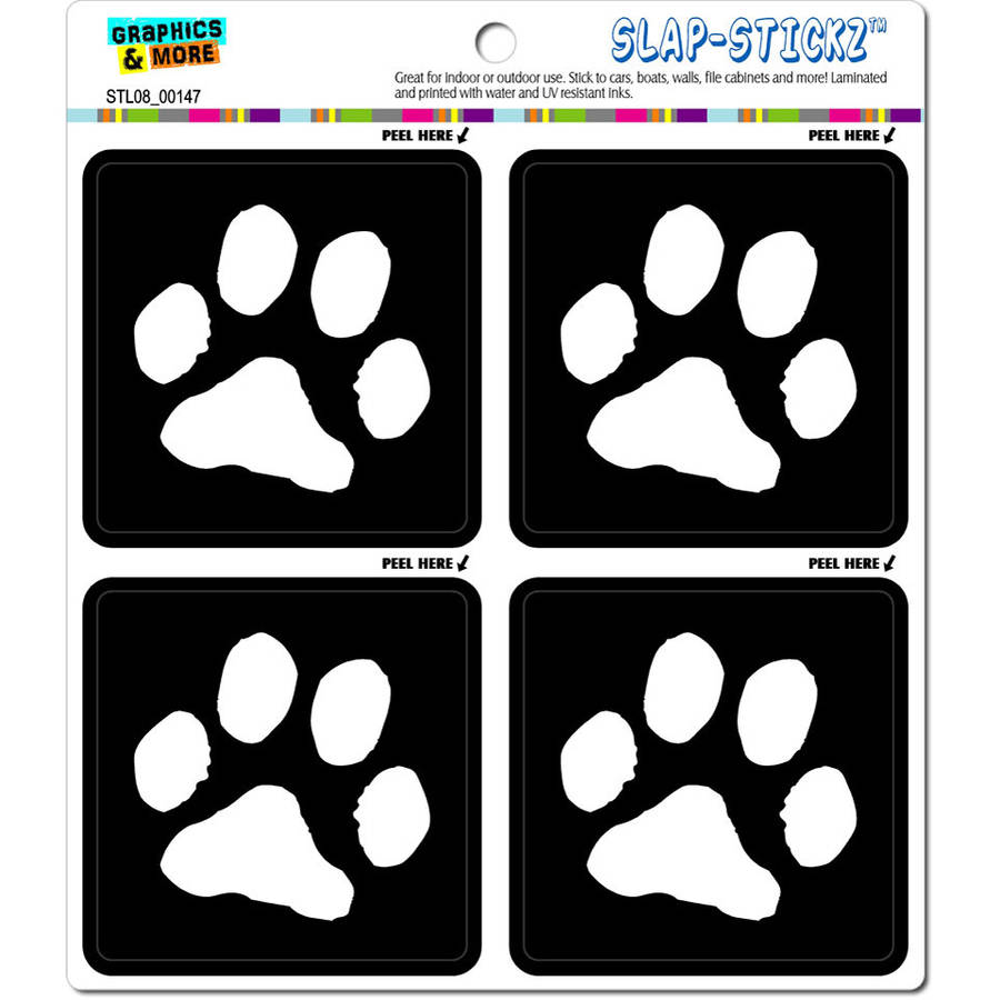 Paw print dog automotive car window locker bumper stickers