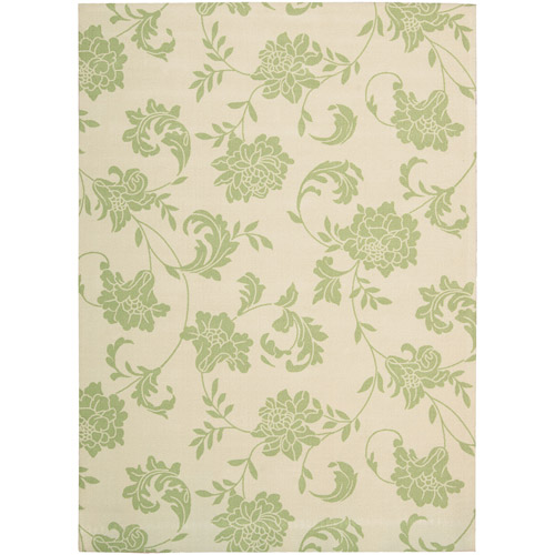 Nourison Home and Garden Polyester Indoor/Outdoor Rug, Green