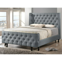 Baxton Studio Francesca Upholstered Platform Bed