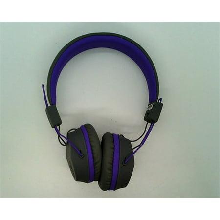 9e92d43474e Refurbished JLab Audio JBuddies Studio Bluetooth Wireless Folding Headphones  - Gray/Purple - Kid Friendly 13 Hour Battery Life Bluetooth 4.1 -  Walmart.com