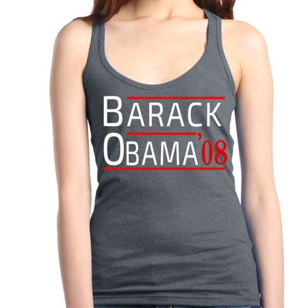 Shop4Ever Women's Barack Obama '08 United States 44th President Racerback Tank Top