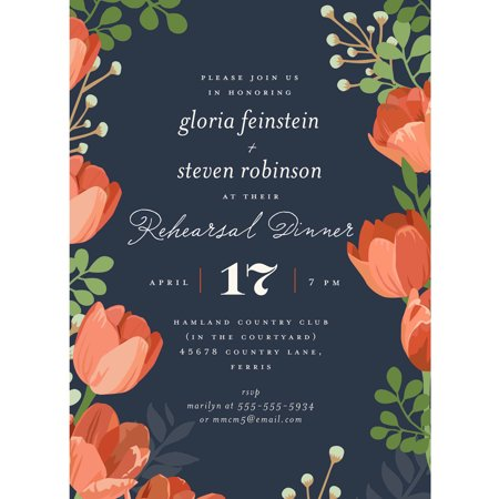 Rehearsal Dinner Bouquet Party Invite Standard Rehearsal Dinner