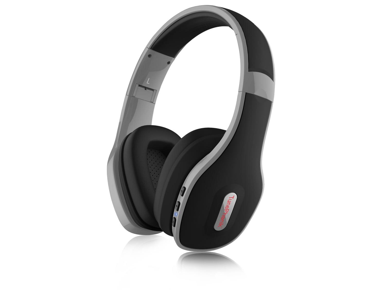 Bluetooth headphones blue and gray - headphones bluetooth office