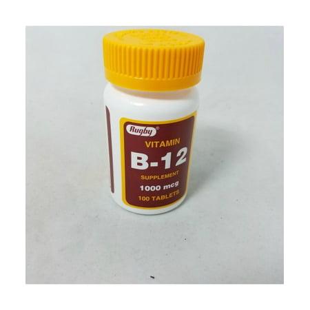 Rugby Vitamin B 12 Tablets  1 000Mcg  100Ct