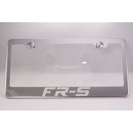 Scion FR-S Laser Engraved Chrome License Plate Frame with Caps, By PRC
