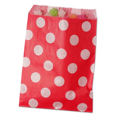 Red Polka Dot Candy Bags 5 1/8