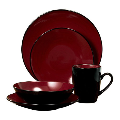 Thomson Pottery Domo 16 Piece Dinnerware Set Service for 4  sc 1 st  Walmart & Thomson Pottery Dinnerware Sets - Walmart.com