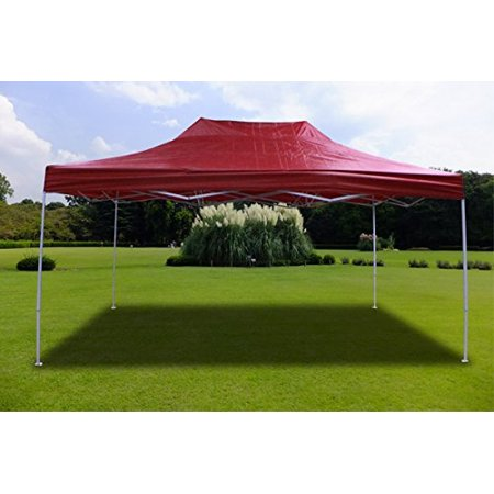 New MTN-G Burgundy Deluxe EZ up Canopy Pop Up Tent 15' X 10