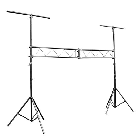 Pro-X T-LS31M 10 FT Mobile DJ Portable Lighting Truss Stand System w/