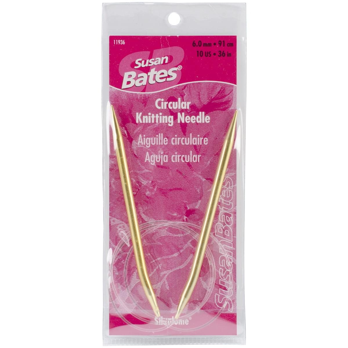 "Susan Bates Silvalume Circular Knitting Needles 36""-Size 10/6mm"