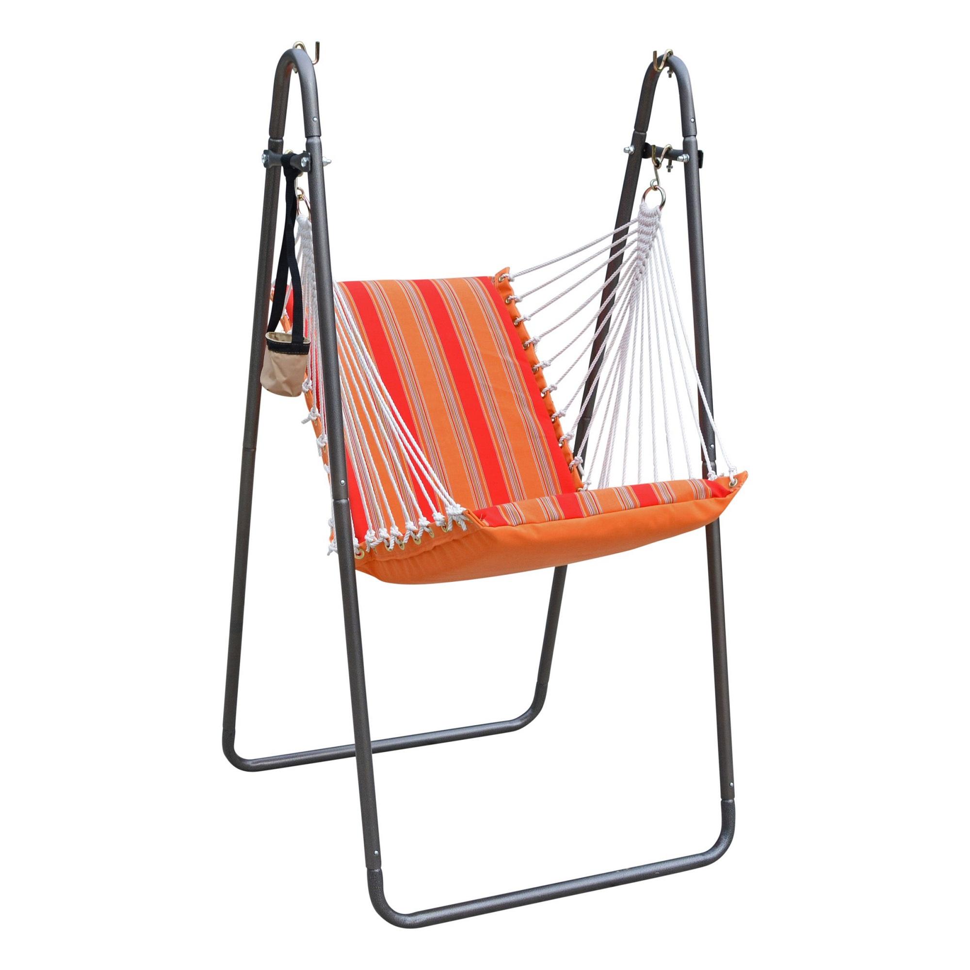 Deluxe Soft Comfort Hanging Chair Sunbrella Bravada Salsa Walmart Com Walmart Com