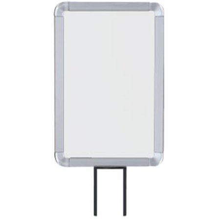 Lavi Industries 50-1130F12V-SA Vertical Fixed Mount Sign Frame, 7 x 11 In. Satin Aluminum