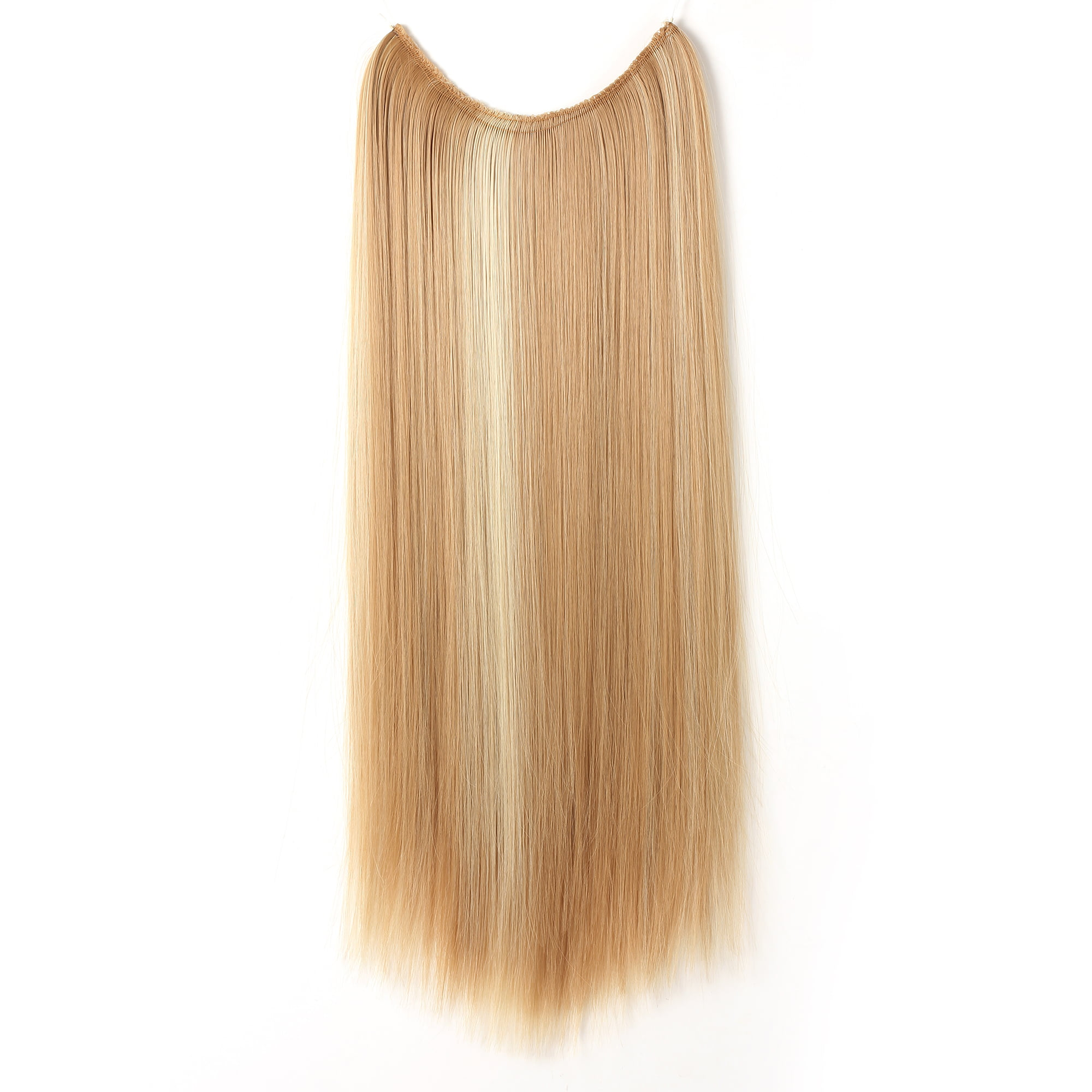 Onedor 24 Straight Transparent Wire Hair Extensions 1b Off Black