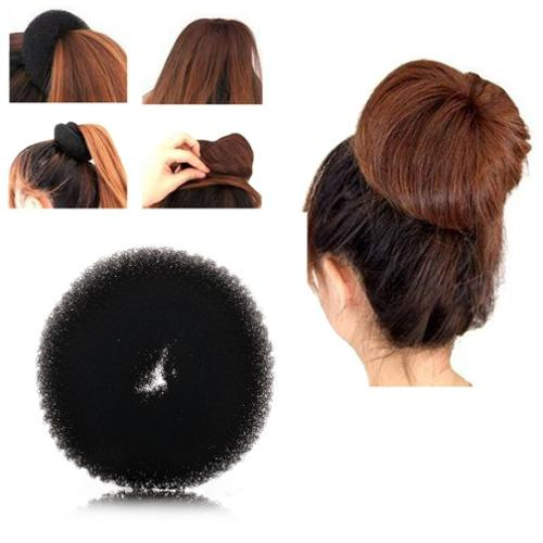 Zodaca Fashion Women Donut Hair Bun up do Ring Shaper Hair Ring Styler Maker Blonde (M) - Black