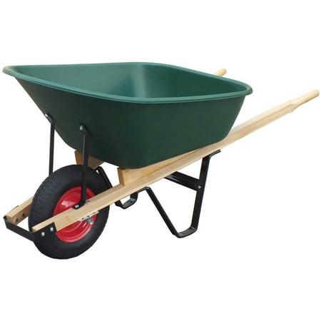 United General WH89695 6 Cubic Feet Poly Tray - Small Wheelbarrow