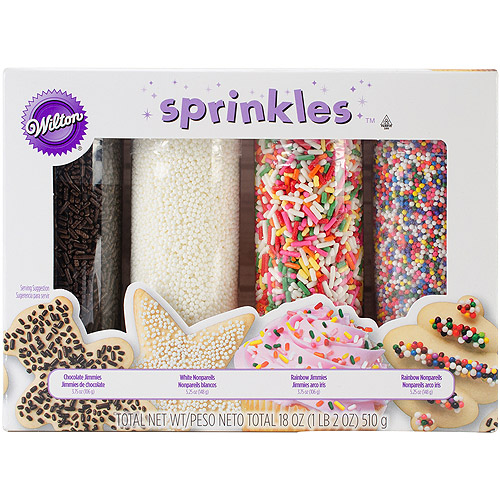 Wilton Everyday Mega Sprinkle Set, 4 pack 710-1175