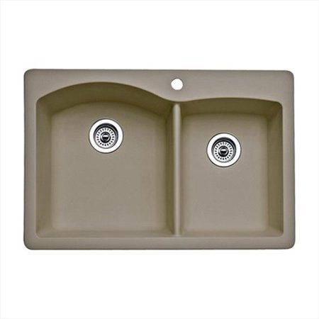 Silgranit Sink Color (Diamond 1.75 in. Double Bowl Silgranit II Drop-In Sink -)