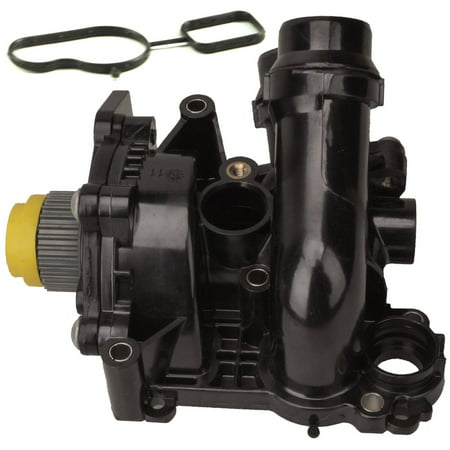 Topaz 06H121026AB Water Pump with Thermostat Assembly for Volkswagen Golf Jetta GTI Passat Tiguan 2.0T 1.8T