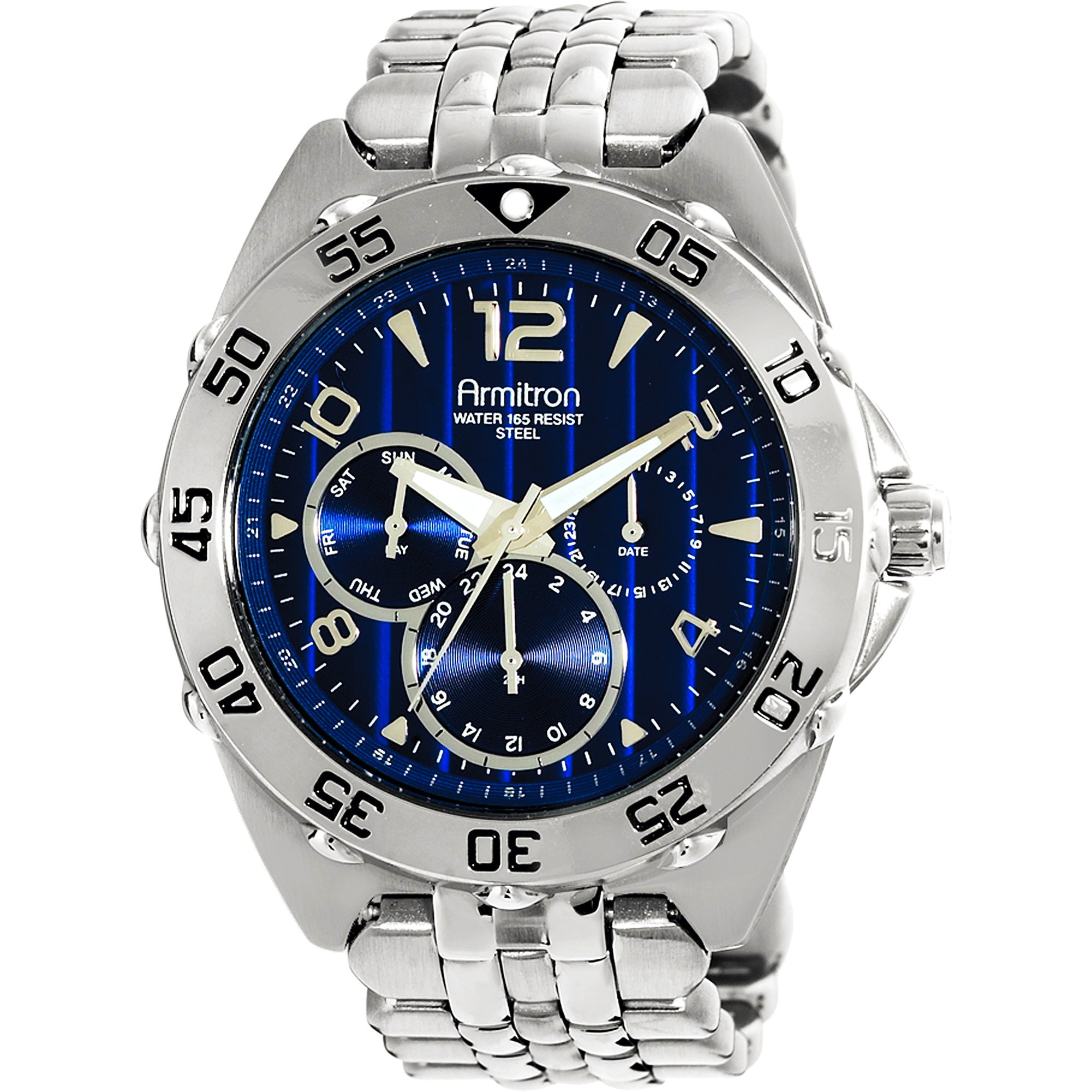 Armitron Men's Stainless Steel Sport Watch, Stainless Steel Bracelet